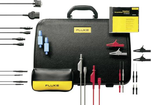 Fluke SCC198 Sicherheits-Messleitungs-Set [Prüfspitze, Abgreifklemmen, BNC-Stecker, Stecker 4 mm - Buchse 4 mm, Stecker