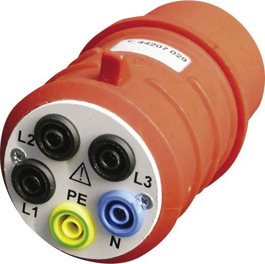 Messadapter CEE-Stecker 16 A 5polig - Buchse 4 mm Beha Amprobe DAA-16