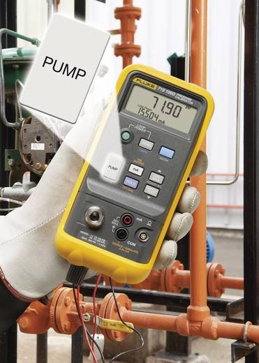 Fluke 719 30G Kalibrator Druck, Strom 2x 9 V Block-Batterie (enthalten) Kalibriert nach Werksstandard (ohne Zertifikat)