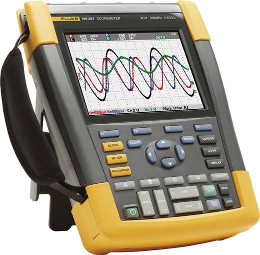 Fluke 190-204/UN Hand-Oszilloskop (Scope-Meter) 200 MHz 4-Kanal 1.25 GSa/s 10 kpts 8 Bit Kalibriert nach ISO Digital-Spe