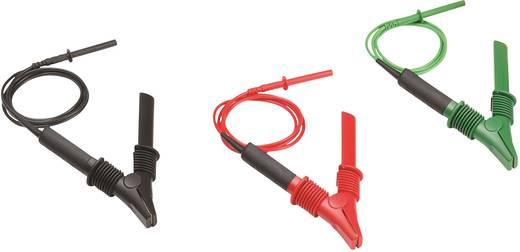 Fluke TLK1550-RTLC Sicherheits-Messleitungs-Set [Krokoklemmen - Lamellenstecker 4 mm] Rot, Schwarz, Grün