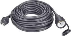 Napájecí prodlužovací kabel Renkforce 1373173, IP44, černá, 20 m