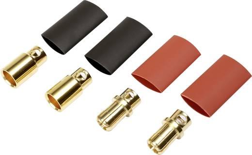 Akku Stecker 8 mm vergoldet 2 Paar Reely