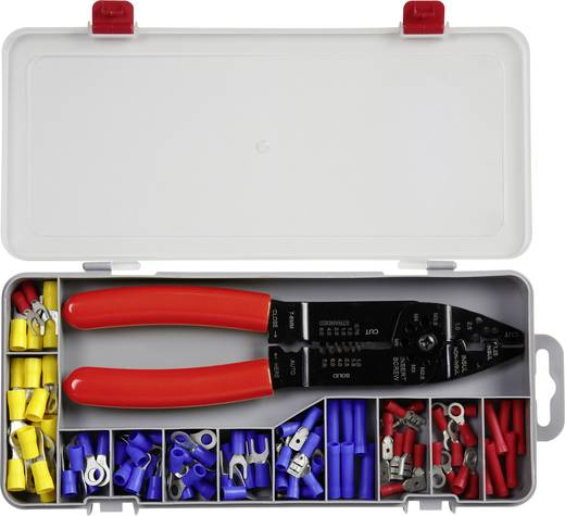 Quetschverbinder-Sortiment 0.5 mm² 6 mm² Blau, Rot, Gelb TE5-0516 101 Teile