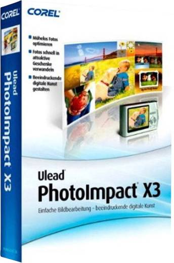Corel Ulead PhotoImpact X3 Vollversion, 1 Lizenz Windows Bildbearbeitung