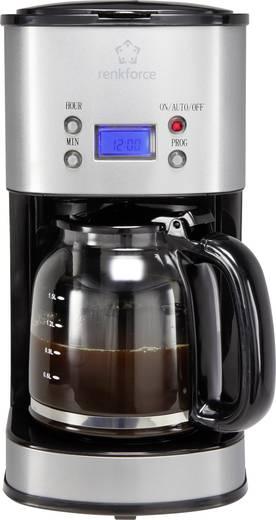 Kaffeemaschine Renkforce CM4216 Edelstahl, Schwarz Fassungsvermögen Tassen=12 Display, Timerfunktion