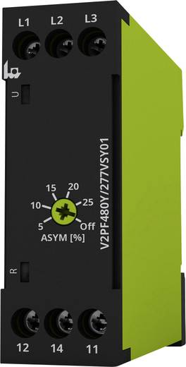 Überwachungsrelais 208 - 480 V/AC 1 Wechsler 1 St. tele V2PF480Y/277VSY01 Phasenfolge, Phasenausfall, Asymmetrie