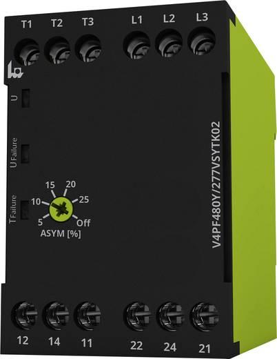 Überwachungsrelais 208 - 480 V/AC 2 Wechsler 1 St. tele V4PF480Y/277VSYTK02 3-Phasen, Phasenfolge, Phasenausfall, Asymme