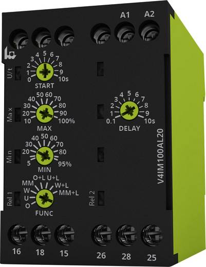 Überwachungsrelais 24, 24 - 240, 240 V/DC, V/AC 2 Wechsler 1 St. tele V4IM100AL20 24-240V AC/DC 1-Phase, Strom, Überstro