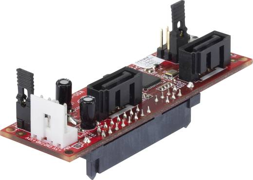 Schnittstellen-Konverter [1x SATA-Kombi-Buchse 7+15pol. - 2x SATA-Stecker 7pol.] Renkforce