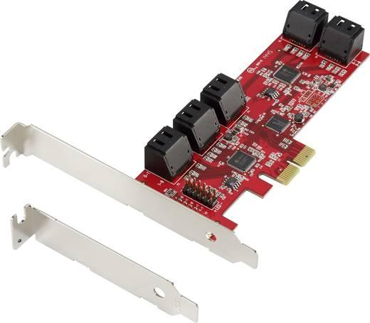 0+10 Port SATA III-Controllerkarte PCIe Renkforce