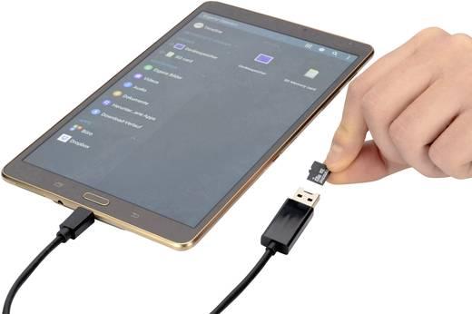 ednet USB 2.0 [1x USB 2.0 Stecker A, SD-Karten-Slot - 1x USB 2.0 Stecker Micro-B] 0.3 m Schwarz