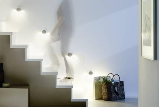 LED-Wandleuchte 4er Set LED 6 W Warm-Weiß Paulmann StaiLED 93807 Aluminium-Weiß