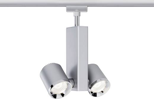Hochvolt-Schienensystem-Leuchte URail LED fest eingebaut 13 W LED Paulmann TecLED II Chrom (matt)