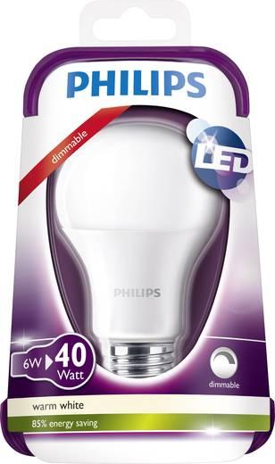 Philips LED (einfarbig) E27 Glühlampenform 6 W = 40 W Warmweiß (Ø x L) 60 mm x 109 mm EEK: A+ dimmbar 1 St.