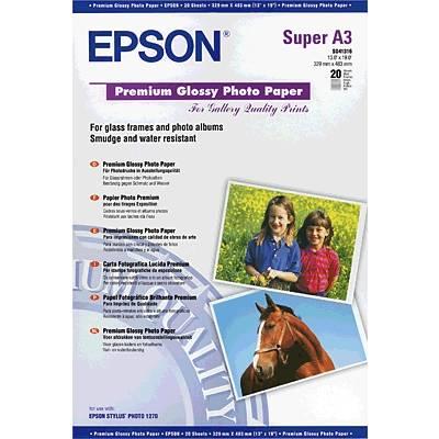 Epson Premium Glossy Photo Paper C13S041316 Fotopapier DIN A3+ 255 g/m² 20 Blatt Hochglänz Preisvergleich