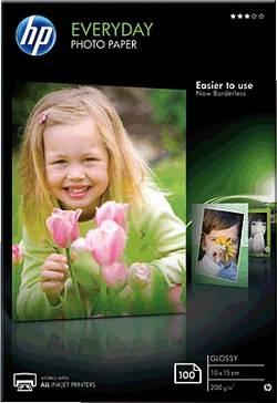 Fotografický papír HP Everyday Photo Paper CR757A, 10 x 15 cm, 200 gm², 100 listů, lesklý