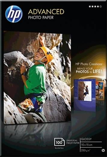 Fotopapier HP Advanced Photo Paper Q8692A 10 x 15 cm 250 g/m² 100 Blatt Glänzend