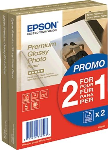 Fotopapier Epson Premium Glossy Photo Paper C13S042167 10 x 15 cm 255 g/m² 80 Blatt Hochglänzend