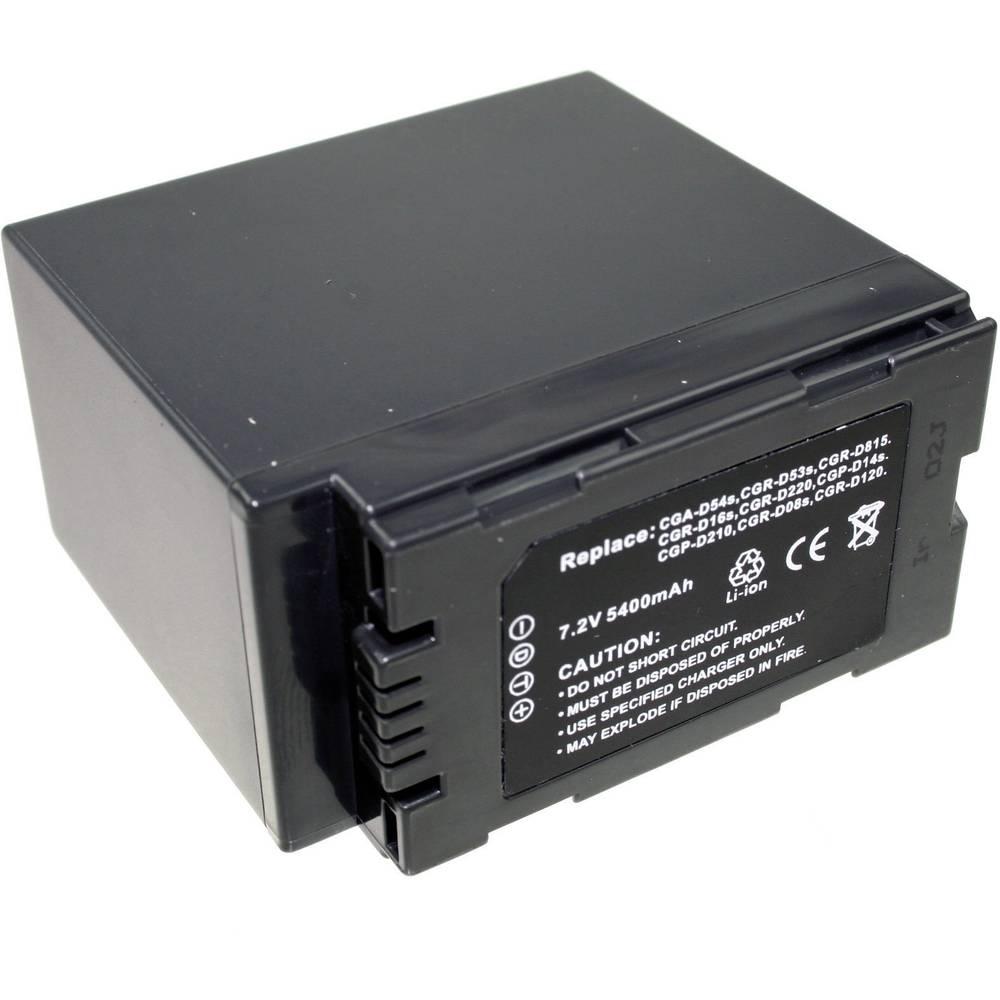 Connect 3000 CGA-D54s Camera-accu Vervangt originele accu CGA-D54s 7.4 V 5400 mAh