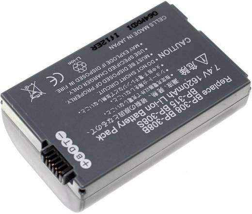 Kamera-Akku Connect 3000 ersetzt Original-Akku BP-308 7.4 V 1650 mAh BP-308