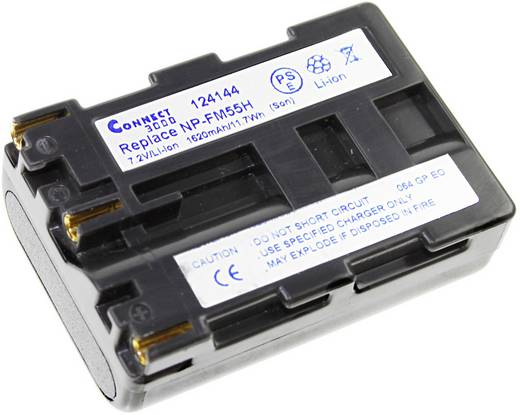 Kamera-Akku Connect 3000 ersetzt Original-Akku NP-FM55H 7.2 V 1620 mAh NP-FM55H