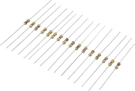 Kohleschicht-Widerstand Sortiment axial bedrahtet 0.25 W Conrad Components 98001c367 5 % 480 St.
