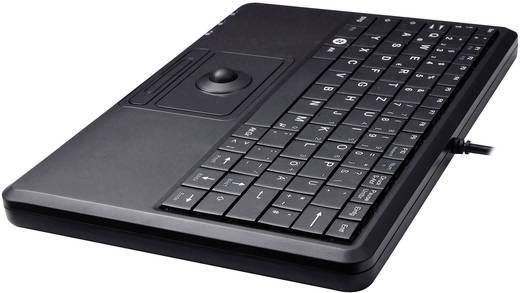 Perixx PERIBOARD-509 PLUS USB-Tastatur Schwarz Integrierter Trackball