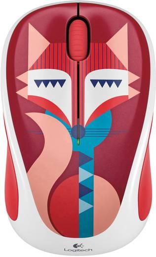 Logitech M238 Play Collection Francesca Fox Funk-Maus Optisch Rot