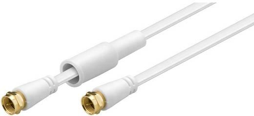 Goobay Antennen, SAT Anschlusskabel [1x F-Stecker - 1x F-Stecker] 7.50 m 85 dB vergoldete Steckkontakte Weiß