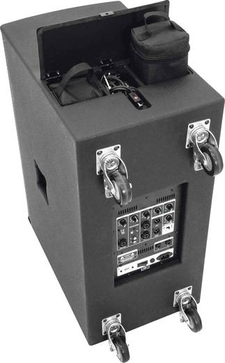 Omnitronic ACS-600 Aktives PA-Lautsprecher-Set Integriertes Mischpult