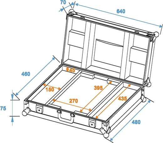 Case Roadinger LC-17A (L x B x H) 470 x 645 x 140 mm