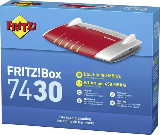 AVM FRITZ!Box 7430 WLAN Router mit Modem Integriertes Modem: VDSL, ADSL2+, ADSL 2.4 GHz 450 MBit/s