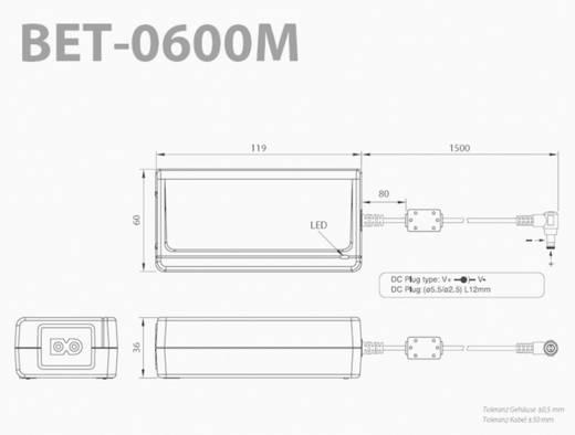Tischnetzteil, Festspannung Bicker Elektronik BET-0612M 12 V/DC 5 A 60 W