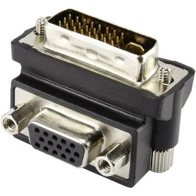 DVI / VGA Adapter [1x DVI-Stecker 24+5pol. - 1x VGA-Buchse] 90° gewinkelt Schwarz Renkforc Preisvergleich