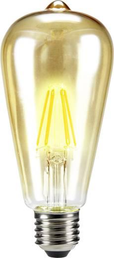 Sygonix LED E27 Kolbenform 6 W = 55 W Warmweiß (Ø x L) 64 mm x 143 mm EEK: A++ Filament 1 St.