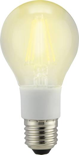 Sygonix LED EEK A++ (A++ - E) E27 Glühlampenform 7 W = 60 W Warmweiß (Ø x L) 60 mm x 114 mm Filament, dimmbar 1 St.