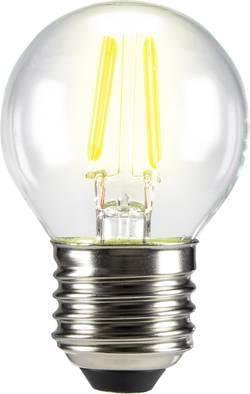 LED žárovka Sygonix STG4007 230 V, E27, 3 W = 28 W, teplá bílá, A++, kapkovitý tvar, vlákno, 1 ks