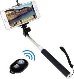 Selfie tyč LogiLink BT0034, 106 cm, vč. řemínku na ruku, černá/stříbrná