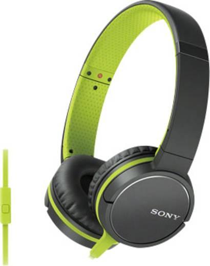 Sony MDR-ZX660AP Kopfhörer On Ear Headset Schwarz, Grün