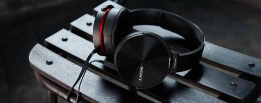 Sony MDR-XB950AP Kopfhörer Over Ear Faltbar, Headset Schwarz