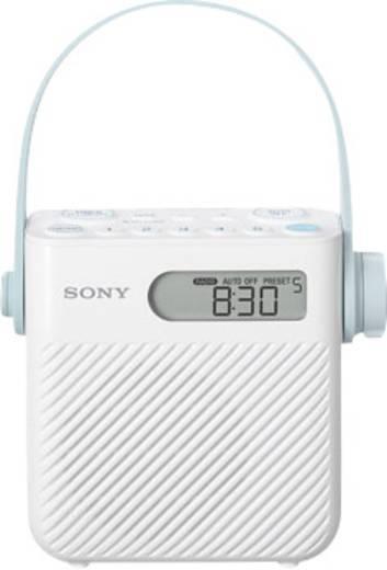 UKW Badradio, Duschradio Sony ICF-S80 MW, UKW spritzwassergeschützt Weiß