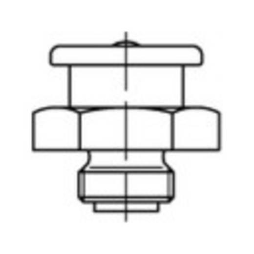 TOOLCRAFT Flachschmiernippel 17 mm Stahl galvanisch verzinkt Güte 5.8 M6 100 St.