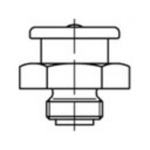 TOOLCRAFT Flachschmiernippel DIN 3404 22 mm Stahl galvanisch verzinkt Güte 5.8 1 St.