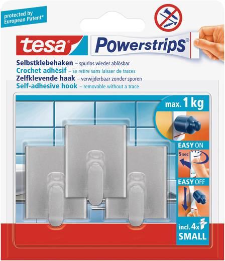 tesa Powerstrip® Haken Small Rechteckl Chrom (matt) 57510-00-02 tesa Inhalt: 1 Pckg.