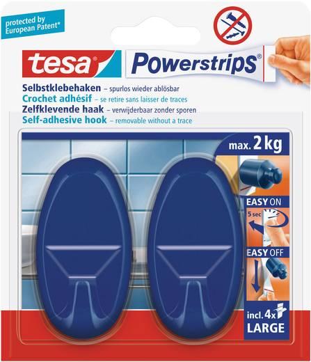 tesa powerstrips haken large oval blau 58057 14 01 tesa inhalt 1 pckg kaufen. Black Bedroom Furniture Sets. Home Design Ideas