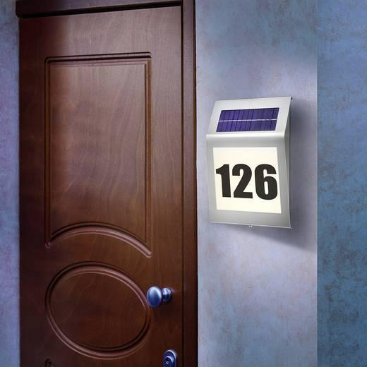 Esotec Style 102030 Solar-Hausnummernleuchte Warm-Weiß Edelstahl