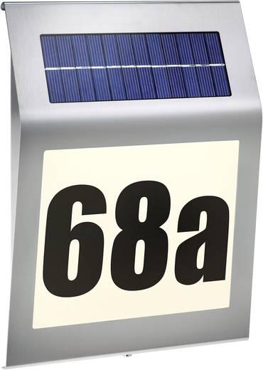 Solar-Hausnummernleuchte Warm-Weiß Esotec 102030 Style Edelstahl
