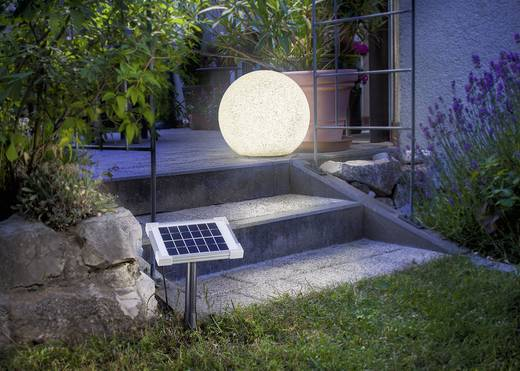 Esotec Solar-Dekoleuchte Mega Stone 40 106021 Stein LED RGB Grau