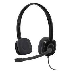 Headset k PC Logitech H151 na ušiach jack 3,5 mm káblový, stereo čierna
